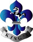 STICKER British Collar Badge - The Kings Regiment