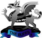 STICKER British Collar Badge - The Buffs - Royal East Kent Regiment