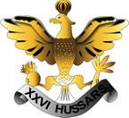 STICKER British Collar Badge - The 26th Hussars