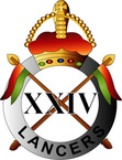 STICKER British Collar Badge - The 24th Lancers