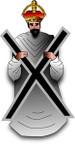STICKER British Collar Badge - Blackwatch - (Royal Highland Regiment)