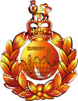 STICKER British Cap Badge - Great Britain - Royal Marines