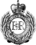 STICKER British Cap Badge - Great Britain - Royal Engineer
