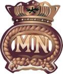 STICKER British Cap Badge - Great Britain - Merchant Navy