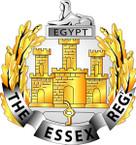 STICKER British Cap Badge - Essex Regiment