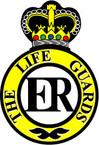 STICKER British Cap Badge - Armoured Regiment Badge - The Life Guards - 1922 - 1