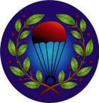 STICKER British Badge - RAF - Parachute Jump Instructors - Brevet - 1943-1945
