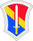 STICKER U S ARMY UNIT 86TH INFANTRY DIV SHIELD