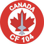 Candian Canada CF 104 Starfighter Sticker