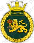 Canadian Navy HMCS Saskatoon (MM 709) Patrol Vessel Badge STICKER