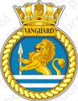 British Navy HMS Vanguard (S28) Submarine Emblem Sticker