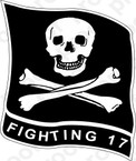 STICKER USN VF 17 FIGHTER SQUADRON FIGHTING