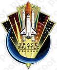 STICKER SPACE SHUTTLE PROGRAM END