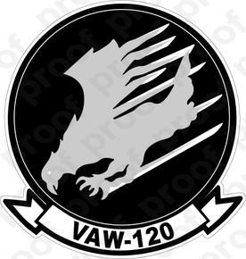 Sticker Usn Vaw 120 Grey Hawks M C Graphic Decals