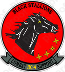 STICKER USN HC 4 Black Stallions