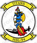 STICKER USN HSL 94 Titans