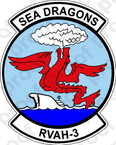 STICKER USN RVAH 3 Sea Dragons