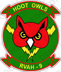 STICKER USN RVAH 9 Hoot Owls