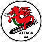 STICKER USN VA 4A Dragons