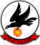 STICKER USN VA 67 Vulcans