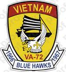 STICKER USN VA 72 Blue Hawks