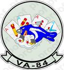 STICKER USN VA 84 Four Aces