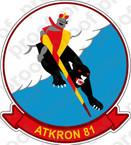 STICKER USN VA 81 Crusaders