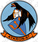 STICKER USN VA 97 Warhawks