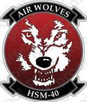 STICKER USN HSM 40 Air Wolves