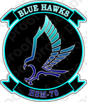 STICKER USN HSM 78 Blue Hawks