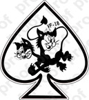 STICKER USN VF 18 BLACK CATS