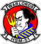 STICKER USN HSM 51 WARLORDS