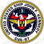 STICKER USN USS John F. Kennedy CVA 67 Emblem