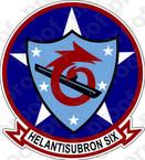 STICKER USN HS  6 HELANTISUBRON