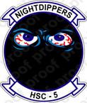 STICKER USN HSC  5 Nightdippers
