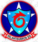 STICKER USN HSC  6 HELANTISUBRON