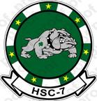STICKER USN HSC  7 Dusty Dogs