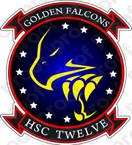 STICKER USN HSC 12 Golden Falcons