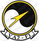 STICKER USN VA 2F Skyhawks
