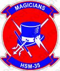 STICKER USN HSM 35 Magicians
