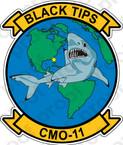 STICKER USN CMO 11 BLACK TIPS