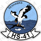STICKER USN HS 41 SEAHAWKS