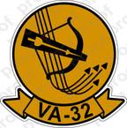 STICKER USN VA 32 BOWMEN