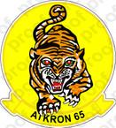 STICKER USN VA 65 TIGERS