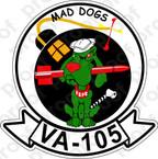 STICKER USN VA 105 MAD DOGS