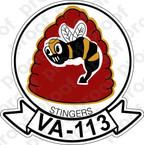 STICKER USN VA 113 STINGERS
