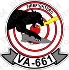 STICKER USN VA 661 FIRE FIGHTERS