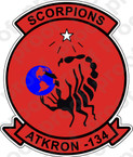 STICKER USN VF 134 SCORPIONS