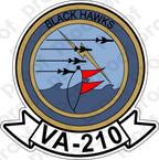 STICKER USN VA 210 BLACKHAWKS
