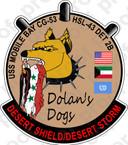 STICKER USN HSL 43 DET 2B DOLANS DOGS